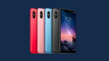 Xiaomi Redmi Note 6 Pro To Be Launched in India on November 22; To Be Retailed Online During Black Friday Sale